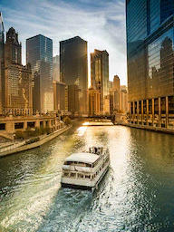 Word City Classic CHICAGO THE RIVER