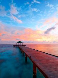 Word City MALDIVES SUNSET